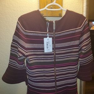 Ted Baker London stripe ottoman knitted dress